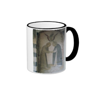 The Meeting of St. Dominic and St. Francis (fresco Ringer Mug