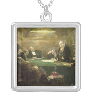 The Meeting of the Board of Directors, 1900 Square Pendant Necklace