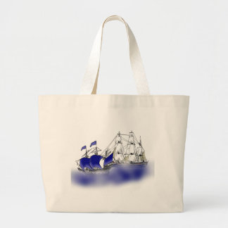 The Meeting of Two Tall Ships Canvas Bags