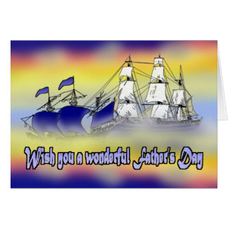 The Meeting of Two Tall Ships Card
