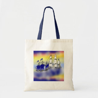 The Meeting of Two Tall Ships Tote Bag