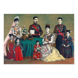 The Meiji Emperor of Japan and the Imperial Family Card