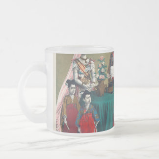 The Meiji Emperor of Japan and the Imperial Family Frosted Glass Coffee Mug