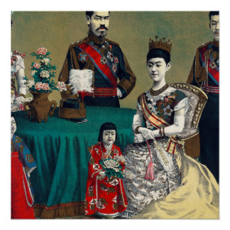 The Meiji Emperor of Japan and the Imperial Family Poster