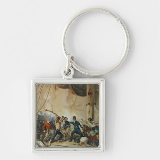 The Melee on Board the Chesapeake, 1813 Silver-Colored Square Keychain