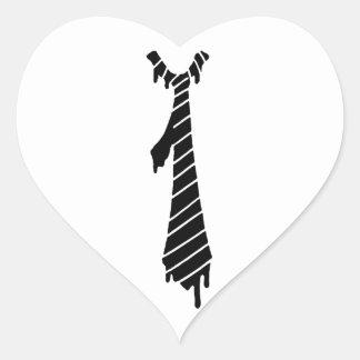 The melting necktie heart sticker