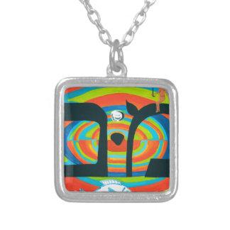 The Mem Letter - Hebrew Alphabet Silver Plated Necklace