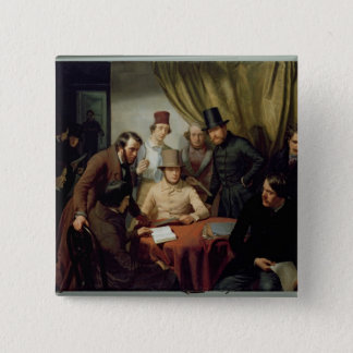 The Members of the Hamburg Artist's Club, 1840 2 Pinback Button