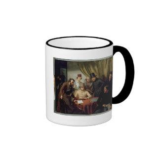 The Members of the Hamburg Artist's Club, 1840 2 Ringer Coffee Mug