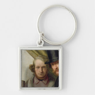The Members of the Hamburg Artist's Club, 1840 Keychain
