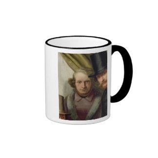 The Members of the Hamburg Artist's Club, 1840 Ringer Coffee Mug