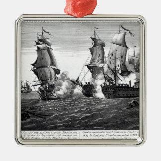 The Memorable Combat Between Captain Pearson Metal Ornament