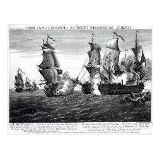 The Memorable Combat Between Captain Pearson Postcard