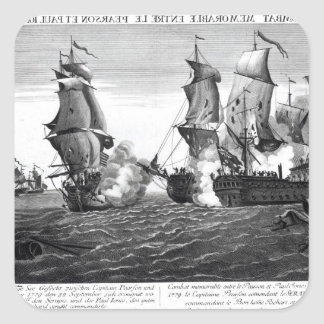 The Memorable Combat Between Captain Pearson Square Sticker