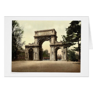 The Memorial Arch, New Brompton, England magnifice Greeting Cards