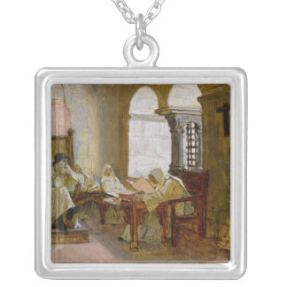 The Men of the Holy Office Square Pendant Necklace