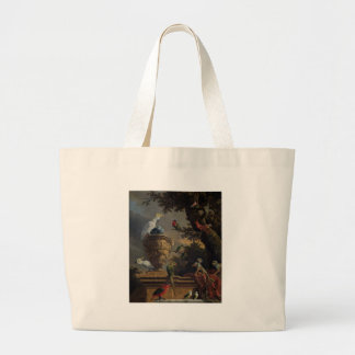 The Menagerie by Melchior d'Hondecoeter Large Tote Bag