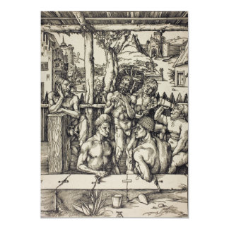 The Mens Bath by Albrecht Durer Personalized Invitations
