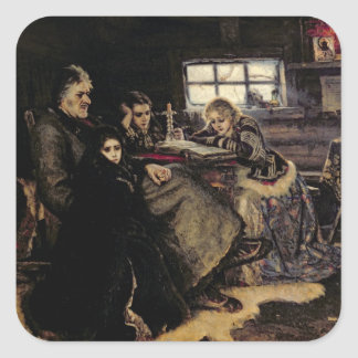 The Menshikov Family in Beriozovo, 1883 Square Sticker