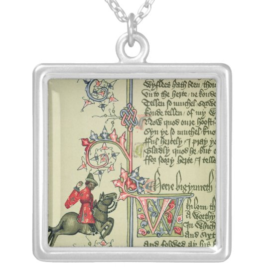 The Merchant, facsimile detail from Silver Plated Necklace