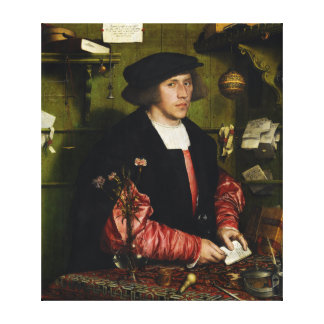 The Merchant Georg Gisze Hans Holbein the Younger Canvas Print