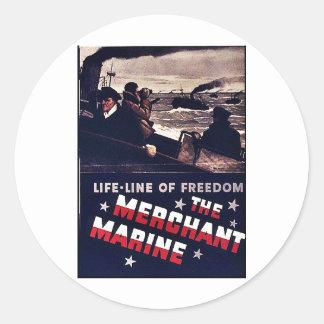 The Merchant Marine Classic Round Sticker