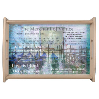 The Merchant of Venice Shakespeare quotes Serving Trays