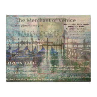 The Merchant of Venice Shakespeare quotes Wood Prints