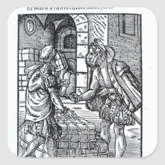 The Merchant, published by Hartman Schopper Square Sticker