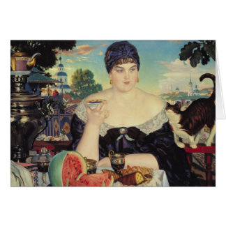 The Merchant's Wife at Tea, 1918 Greeting Card
