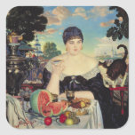 The Merchant's Wife at Tea, 1918 Square Sticker
