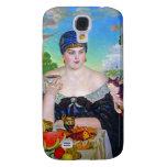 The Merchant's Wife & Cat by Boris Kustodiev Samsung Galaxy S4 Covers