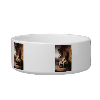The Merciful Samaritan by Rembrandt Cat Food Bowl