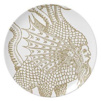 The Mercurial demon of the alchemic philosophers Melamine Plate