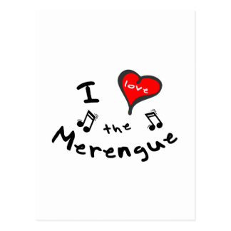 the Merengue Gifts - I Heart the Merengue Postcard