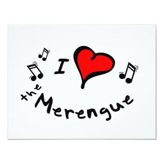 the Merengue I Heart-Love Gift 4.25x5.5 Paper Invitation Card