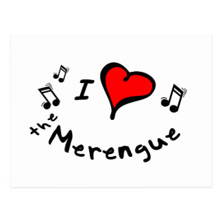 the Merengue I Heart-Love Gift Postcard