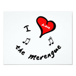 the Merengue Items - I Heart the Merengue 4.25x5.5 Paper Invitation Card