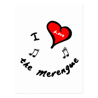 the Merengue Items - I Heart the Merengue Postcard