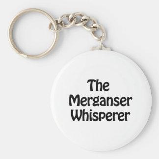 the merganser whisperer basic round button keychain