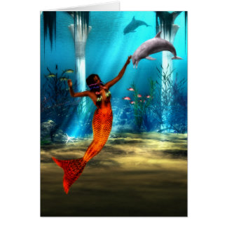 The Mermaid and the Dolphin Card