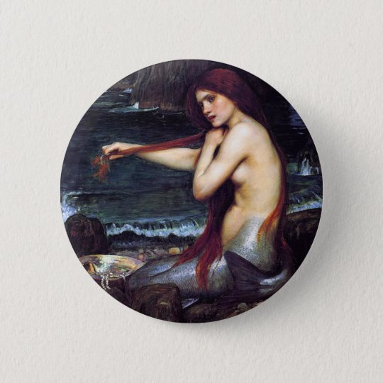 The Mermaid Pinback Button