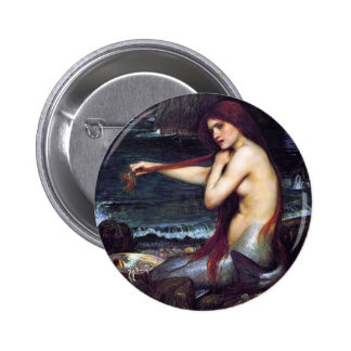 The Mermaid Pinback Button
