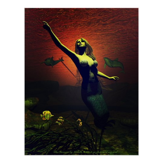 The Mermaid Poster By Michelle Wilder
