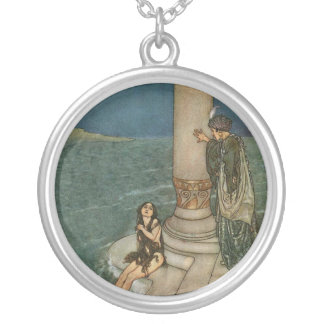 The Mermaid & The Prince Silver Plated Necklace