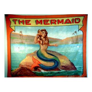 the mermaid vintage postcard