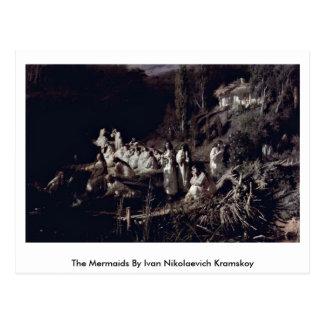 The Mermaids By Ivan Nikolaevich Kramskoy Postcard