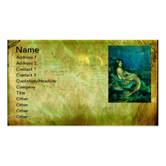 The Mermaids Chair Double-Sided Standard Business Cards (Pack Of 100)