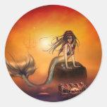 The Mermaids Treasure Classic Round Sticker