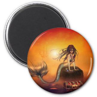 The Mermaids Treasure Fridge Magnet